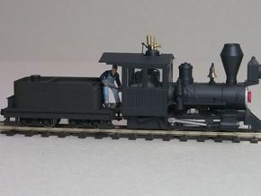 Small 8 wheel Tender for HOn30 F&C loco, ver.A in White Processed Versatile Plastic