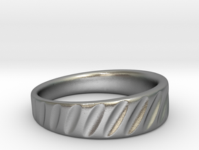 Ring Rotation Gradient Scallops in Natural Silver