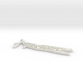 Lichen Ramalina Menziesii in White Natural Versatile Plastic
