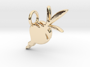 Beet Charm in 14k Gold Plated Brass