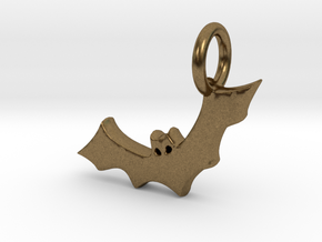 Bat Charm in Natural Bronze