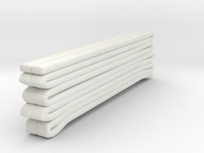 1/87 Seagrave Squrt Hose Load 2 in White Natural Versatile Plastic