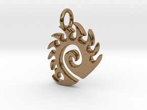 Zerg Charm in Natural Brass