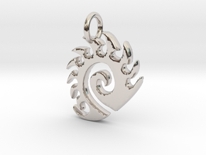 Zerg Charm in Rhodium Plated Brass