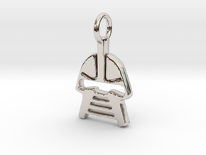 Cylon Charm in Rhodium Plated Brass