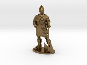 Dwarf Fighter Miniature in Natural Bronze: 1:55