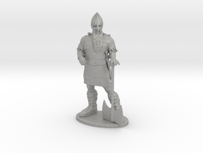 Dwarf Fighter Miniature in Raw Aluminum: 1:55