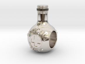 unicum bottle charm in Rhodium Plated Brass
