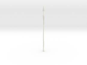 """BotW"" Fishing Harpoon in White Natural Versatile Plastic: 1:12"