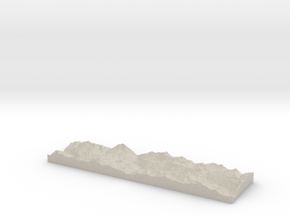 Model of Le Dôme in Natural Sandstone