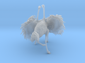 Ostrich 1:25 Fighting Pair in Smooth Fine Detail Plastic