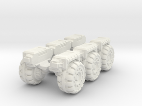 RUMV-Six Pack Of Wheels in White Natural Versatile Plastic