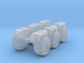 RUMV-Six Pack Of Wheels in Smooth Fine Detail Plastic