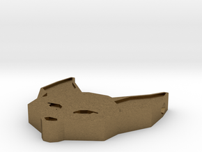Fennec Fox Geometric Pendant in Natural Bronze: Large