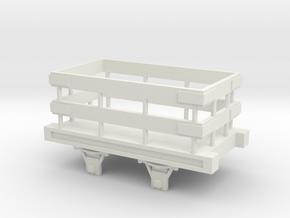 Slate Truck OO Scale in White Natural Versatile Plastic