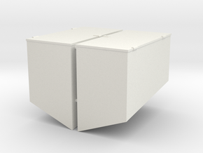 1/16 M31 Rear Stowage Boxes  in White Strong & Flexible