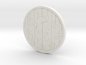 BotW Emblazoned Shield in White Strong & Flexible: 1:12