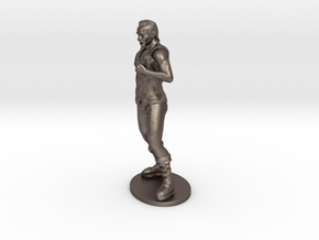 Half-Orc Miniature in Polished Bronzed Silver Steel: 1:55