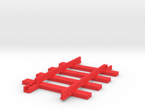 Tri-ang Big Big Train Track 4 Sleepers in Red Processed Versatile Plastic