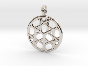 CELTIC CUBE in Rhodium Plated Brass
