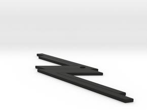 ZZTop KeyChain in Black Natural Versatile Plastic