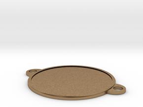 Bracelet medallion in Natural Brass: 1:10