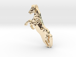Horse in 14k Gold Plated