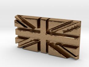 British flag in Natural Brass