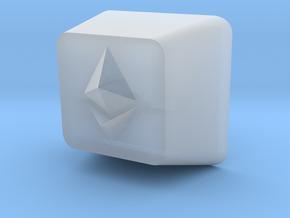 Ethereum Cherry MX Keycap in Smooth Fine Detail Plastic