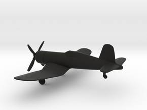 Vought F4U-1 Corsair in Black Natural Versatile Plastic: 1:144
