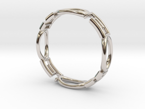 Shapes  R-001 in Rhodium Plated Brass