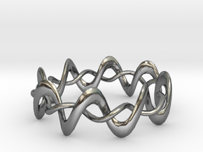 DMT Wrap Ring in Polished Silver (Interlocking Parts)