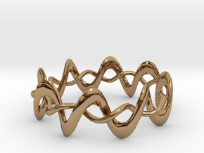 DMT Wrap Ring in Interlocking Polished Brass