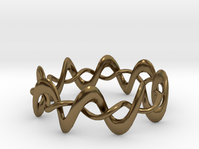 DMT Wrap Ring in Polished Bronze (Interlocking Parts)
