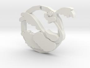 Roadrunner Pendant  in White Natural Versatile Plastic