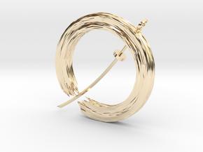 Soul In Flight Pendant in 14k Gold Plated Brass