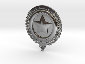 Wynonna Earp Marshall's Badge in Polished Silver