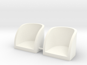 Seats in White Strong & Flexible Polished