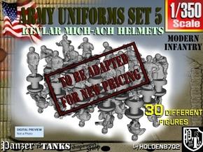 1-350 Army Modern Uniforms Set5 in Transparent Acrylic