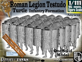 1/111 Scale Roman Testudo in Frosted Ultra Detail