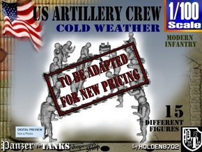 1-100 US Artillery Crew Cold Weather in Transparent Acrylic