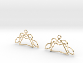 Celtic Weave Earrings - WE003 in 14k Gold Plated Brass