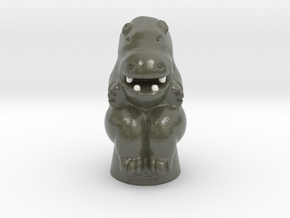 Hippo Game Token in Glossy Full Color Sandstone
