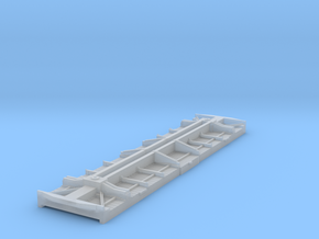 Fowler boxcar underframe and floor in Smoothest Fine Detail Plastic