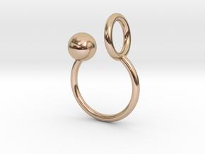 Ball HOOP Ring in 14k Rose Gold
