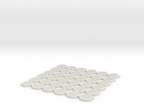 Manhole covers 01. HO Scale (1:87) in White Natural Versatile Plastic