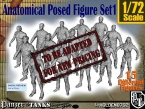 1-72 Anatomical Pose Figure Set1 in Transparent Acrylic