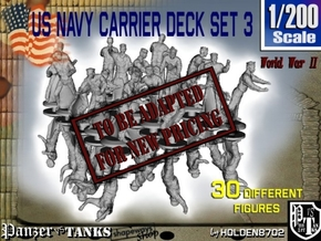 1-200 US Navy Carrier Deck Set 3 in Transparent Acrylic