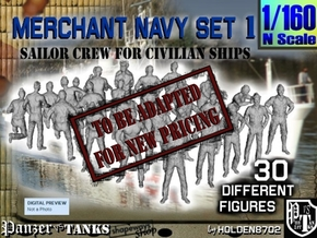 1/160 Merchant Navy Crew Set 1 in Transparent Acrylic
