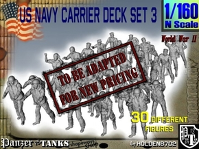 1/160 US Navy Carrier Deck Set 3 in Transparent Acrylic